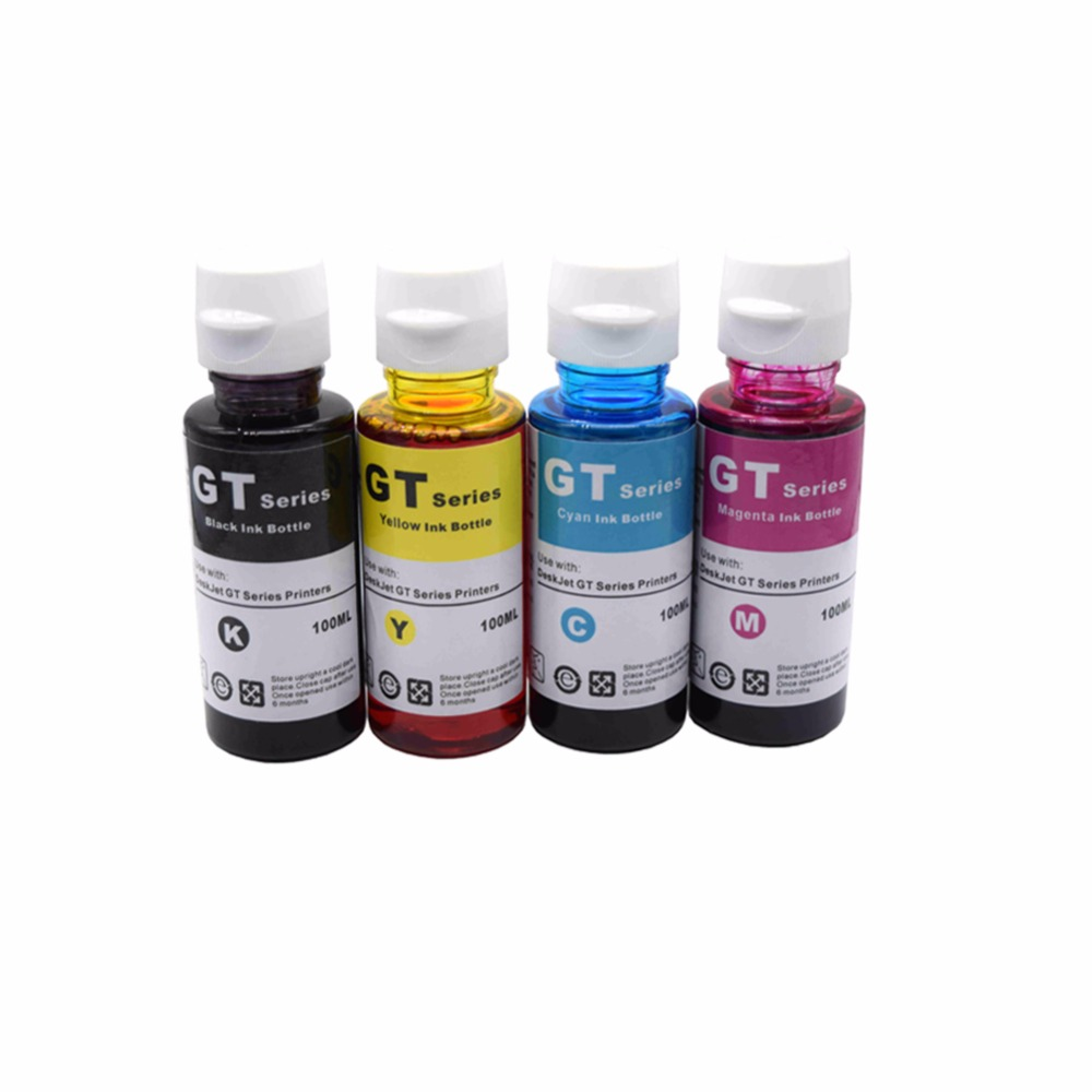 CK X4 Refillable Dye Ink Kit Replacement for hp GT51 GT52 GT 51 52 for  GT5810 GT5820 5810 5820 Deskjet Printer Ink 70ml