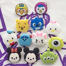1piece Creative Cartoon Cute Stitch Winnie Pooh Bear Kawaii Mickey Mouse Decorative Brooch Souvenir Kids Small Pins & Badges X16(China)