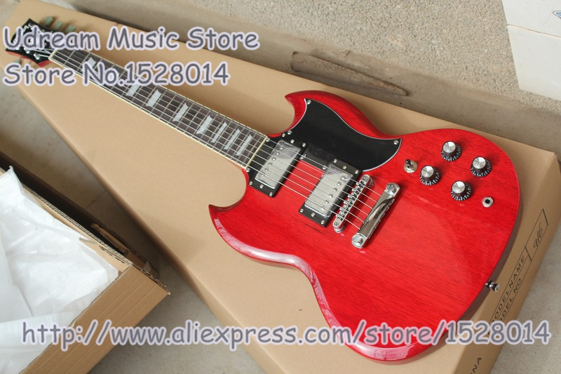 Hot Selling Chinese SG Electric Guitars Chrome Hardwares & Solid Guitar Body & Kits Available new arrival sg electric guitars chrome bigsby chinese guitarra electrica free shipping