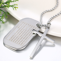 Men's Stainless Steel Necklaces Cross Pendant