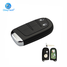 OkeyTech 2 Button Smart Remote Control Key 433mhz 4A Chip Keyless Entry with Insert Blade for Jeep Dodge Cherokee Ram Chrysler