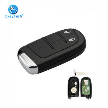 OkeyTech 2 Button Smart Remote Control Key 433mhz 4A Chip Keyless Entry with Insert Blade for Jeep Dodge Cherokee Ram Chrysler - DISCOUNT ITEM  25% OFF All Category