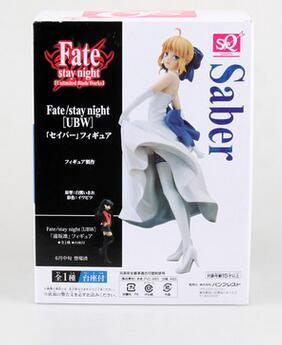 21cm Fate Stay Night Saber White dress Action Figures PVC Collection Figures toys for christmas gift with retail box