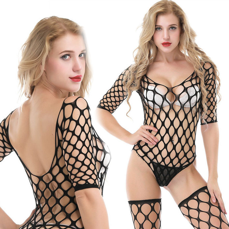 <font><b>Lingerie</b></font> Fishnet <font><b>Bodystocking</b></font> Garter <font><b>sexy</b></font> underwear suspender mesh <font><b>Tight</b></font> intimates erotic Crotchless Bodysuit pantyhose game image