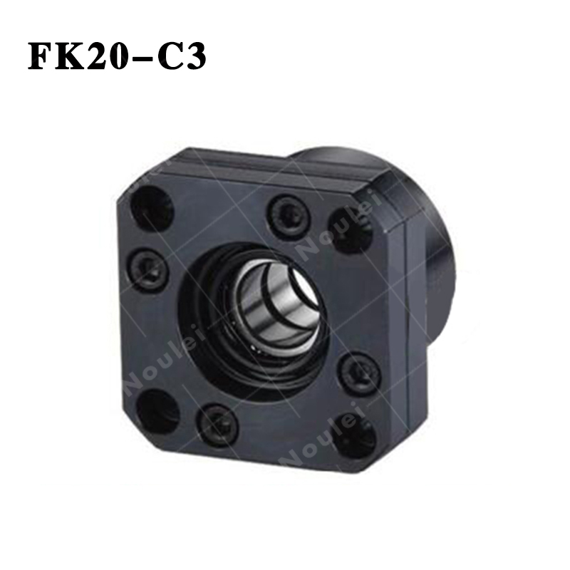 CNC part BallScrew End Support FK20 C3 Set Blocks With Lock Nut Floated & Fixed Side for SFU 2505 2510 BallScrew cnc part ballscrew end support fk15 c5 set blocks with lock nut floated
