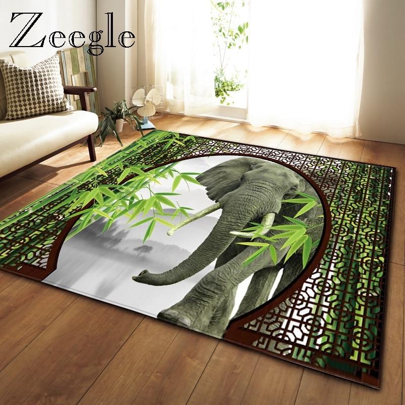 Tapis de salon Zeegle tapis lavable en Machine moderne tapis Long couloir tapis doux 3D imprimé tapis et tapis pour chambre