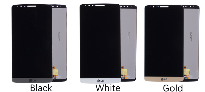 5.5 Original Display for LG G3 LCD Touch Screen with Frame for LG G3 D850 D851 D855 LCD Display Replacement Black Whtie Gold (6)