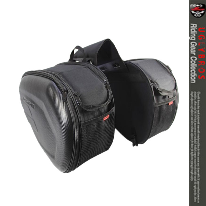 Free Shipping wholesale retail Sa212 Saddle Bag / Motorcycle Side Helmet Riding Travel Bags + Rain Cover One Pair for harley yamaha kawasaki honda 1 pair universal motorcycle saddle bags pu leather bag side outdoor tool bags storage undefined
