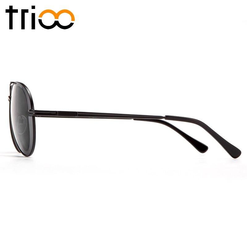 TRIOO Prescription Sunglasses Men UV400 Myopia Optical Sun Glasses Black Lens Male Glasses Minus Graduate Diopter Eyeglasses