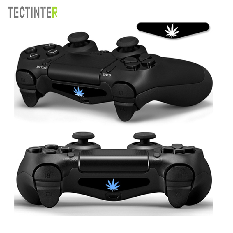 5pcs/set Weed PVC Vinyl Skins Cover For Sony Dualshock 4 Controller LED Light Bar Decal Sticker Cover For Playstation 4 Controle