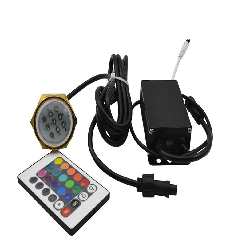 Image 3 - Waterproof IP68 27W RGB Boat Drain Plug Light 9 LED Boat Light Underwater Boat Lamp with Remote Controller-in Marine Hardware from Automobiles & Motorcycles