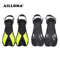 AILLOMA 2018 Adult Adjustable Buckle Diving Fins Flipper TPR Soft Rubber Underwater Duck Feet Snorkeling Swimming Equipmennt