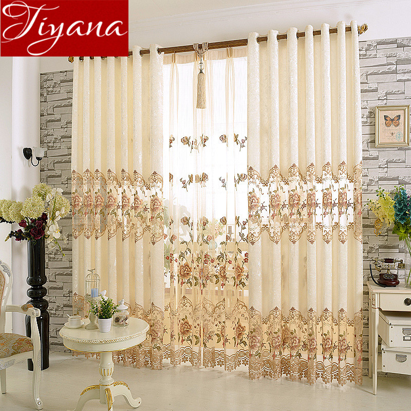 Huayin Velvet Linen Curtains Tulle Window Curtain For: Embroidered Voile Curtains Tulle Ice Velvet Stitching