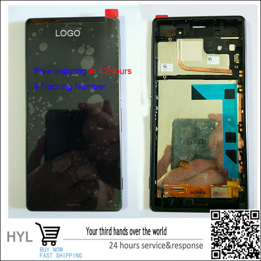 A+++quality 100% new White Black For Sony Xperia Z3 LCD display+Touch screen Panel Digitizer with frame,in stock!