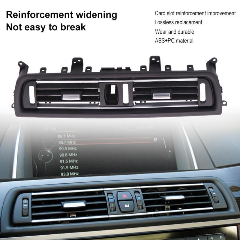 1 pçs frente centro saída de ar ventilação painel traço grille capa para bmw série 5 f10 interior molduras painel grille