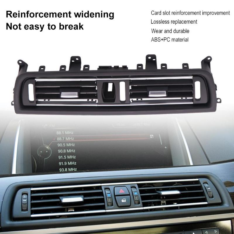1Pcs Front Center Air Outlet Vent Dash Panel Grille Cover voor BMW 5 Serie F10 Interieur Mouldings Panel Grille