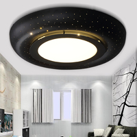 Adjust Light LED Ceiling Lamp Personality Fashion Black And White Art Study Master Bedroom Light Round