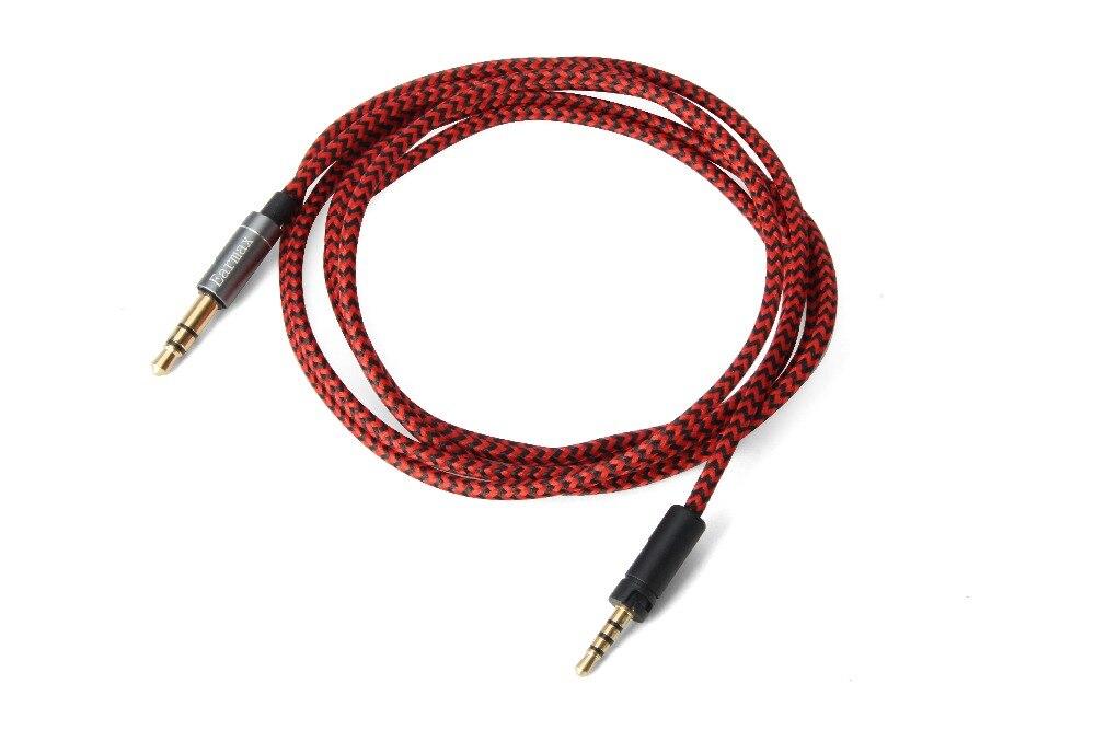 Reemplazo de Audio de Cable de nylon para Sennheise HD 4.30i HD 4,30g HD 4,40, HD 4,50 BT