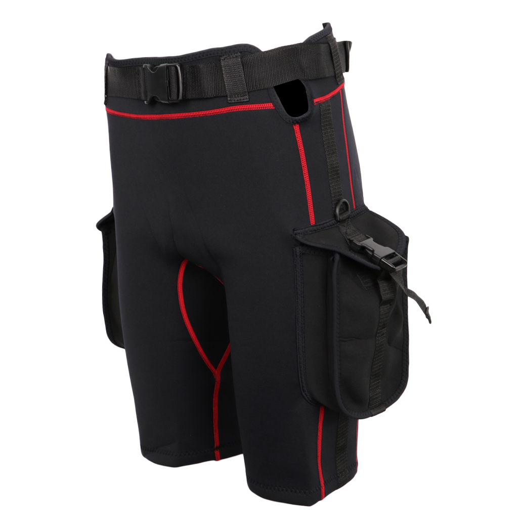 Wetsuit Shorts with Quick Release Belt Buckle Diving Surfing Short Pants with Pockets-in Diving Masks from Sports & Entertainment    2