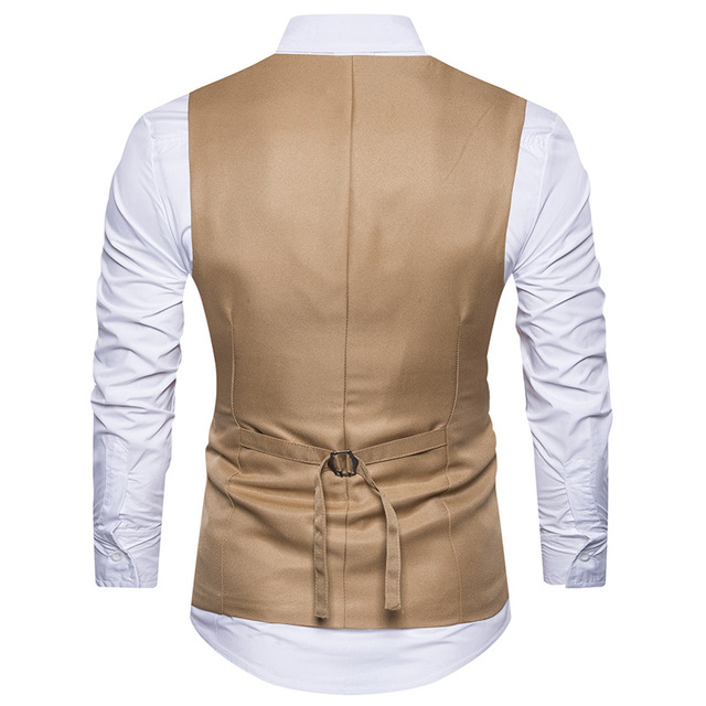 European Size Mens Wedding Waistcoat 2018 Brand New Slim Fit Men vest Good Quality Embroidery Business Male Suit Vests S-2XL