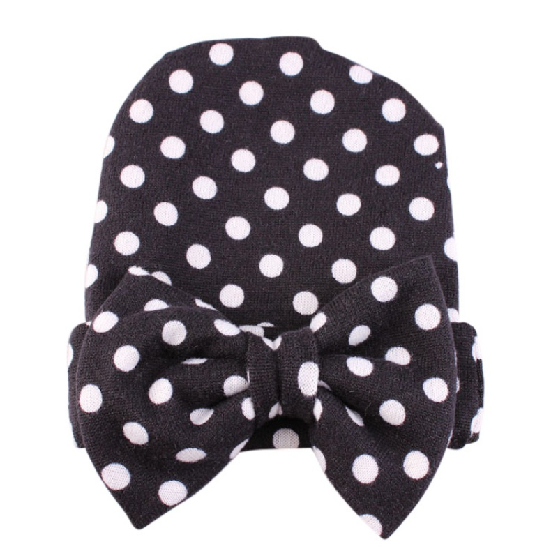 Newborn Flower Cotton Baby Hats Big Bow-knot Toddler Skull Cap Photography Props Caps