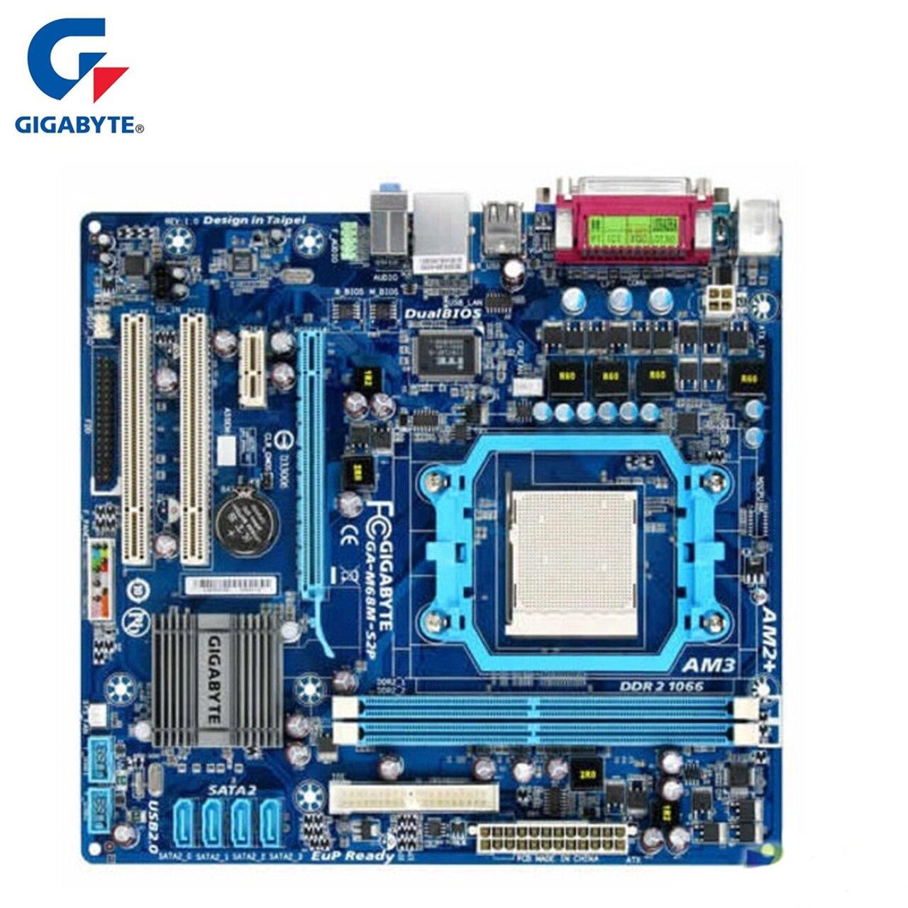 Gigabyte ga-m68m-s2p материнской DDR2 8 ГБ разъем AM2/AM2 +/AM3 M68M S2P Desktop Systemboard используются интегрированный Графика