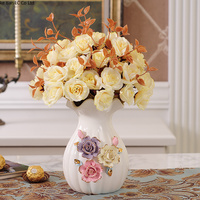 European ceramic vase ornaments Living table living room TV cabinet decorations Modern minimalist crafts hydroponic small vase