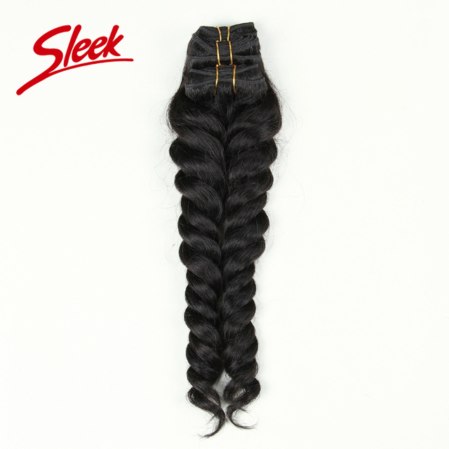 "Sleek 7a Mink Brazilian Hair Loose Wave Weave Bundles Full Head Set Hair Weaving 13""&15""&17"" Sexy Formula Hair Human Hair Weave"