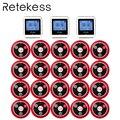 RETEKESS Беспроводная кнопка вызова официанта система для ресторана служебный пейджер система гость пейджер 3 часы приемник + 20 кнопка вызова ...
