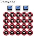 RETEKESS Wireless Kellner Berufung System Für Restaurant Service Pager System Gast Pager 3 Uhr Empfänger + 20 Call Taste F3288B
