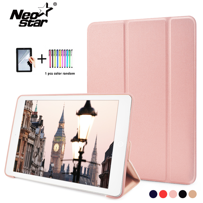 Case For iPad 2017 2018 Case Silicone Soft Back PU Leather Cover for iP