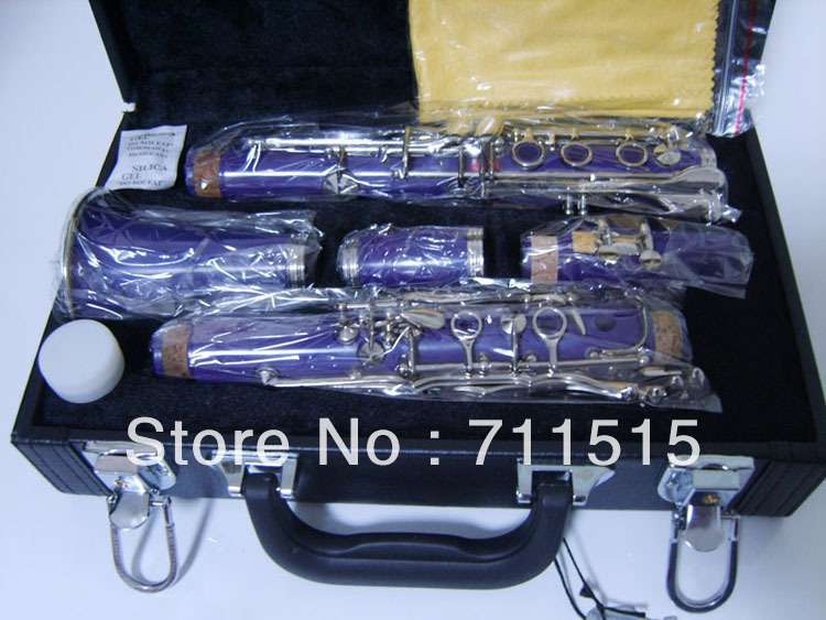 Wholesale manufacturers - klarnet 17 key bakelite clarinet in B flat blue brass plated  buffet clarinete