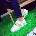 2016 осень новых диких белый обувь женская версия низким, чтобы помочь повседневная обувь тенденция кружева женская обувь обувь в2