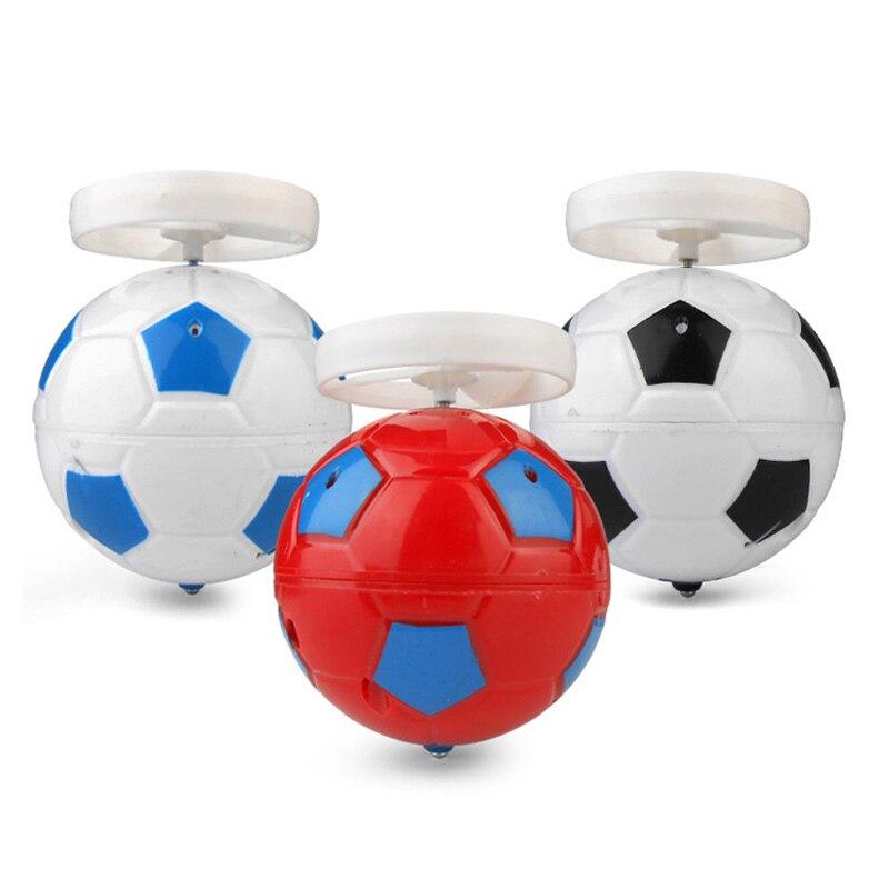 Spinning Top Football Soccer Gyroscope Desktop Mini Light Glinted Vocal Singing MusicTops Children Toys Gift For Kids