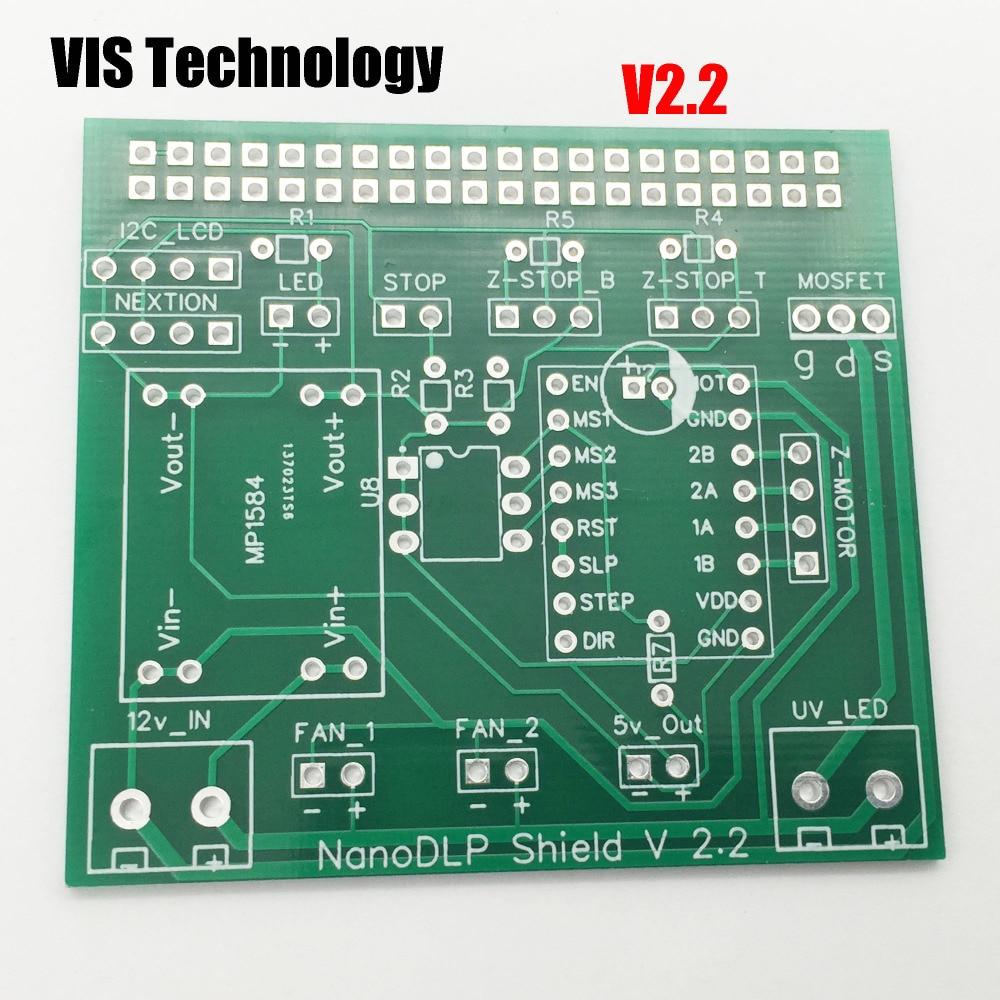 US $5 3 |1pc Nanodlp V2 2 PCB Double circuit board for Nanodlp shield V2 2  PCB for SLA Nano printer Thingiverse TOS-in 3D Printer Parts & Accessories