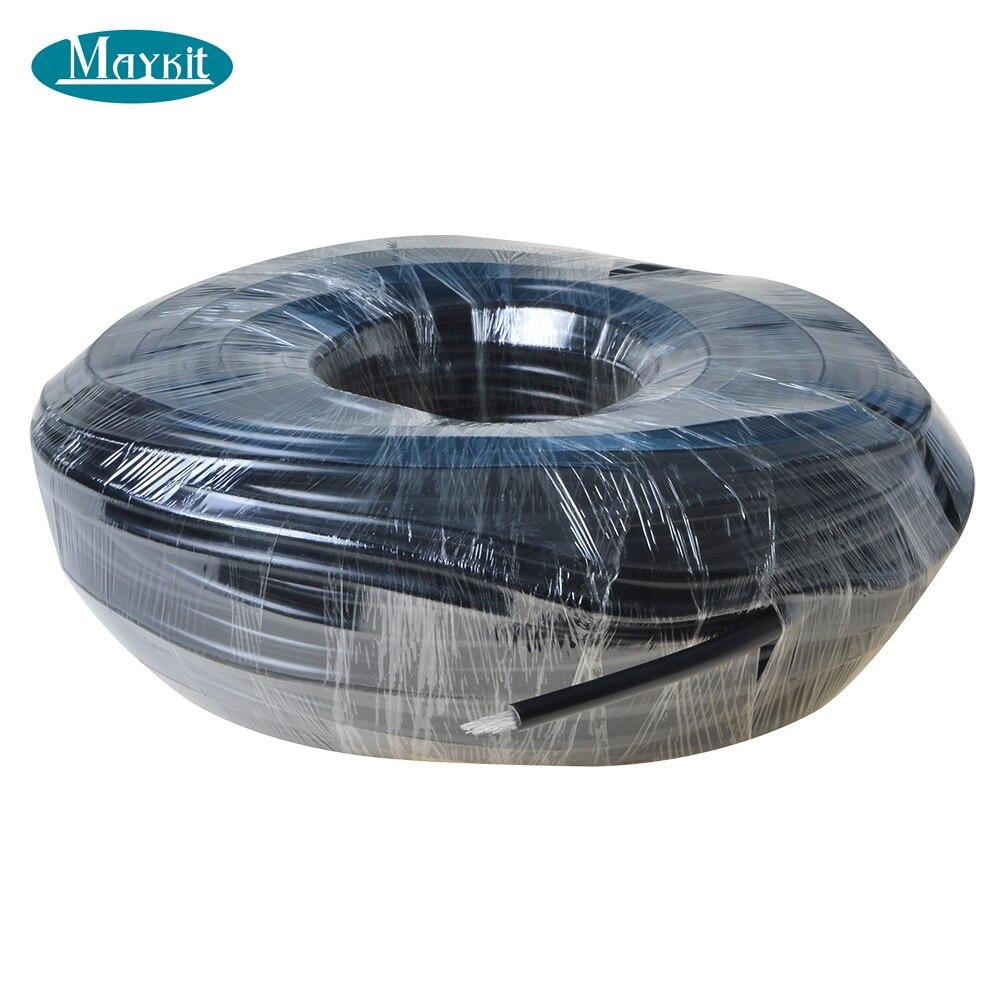 Maykit 7 strands 0.75mm black jacketed multi string endglow fiber optics for pool star sky light star ceiling using