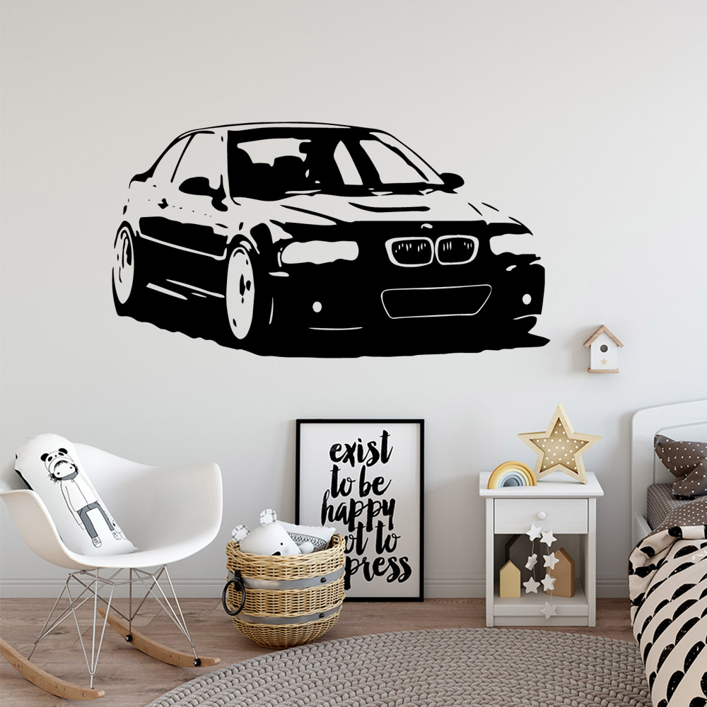 Carved car Vinyl Self Adhesive Wallpaper For Kids Rooms Diy Home Decoration Pvc Wall Decals