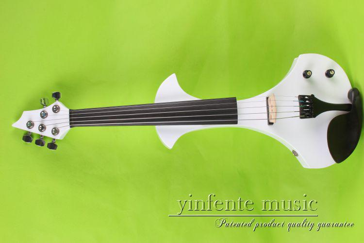 5 strings 4/4 Electric Violin Silent Pickup Fine tone parts include New Golden Color #8-22 white    color new 4 string 4 4 electric acoustic violin patent silent fine sound 1