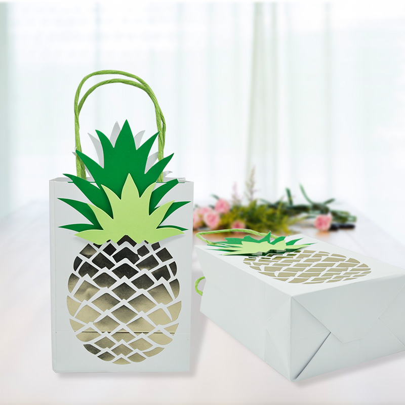 New Arrival 8PCS/PACK Birthday Candy Bags Pineapple Paper Treat Bags Party Favour Bags Gift Bags