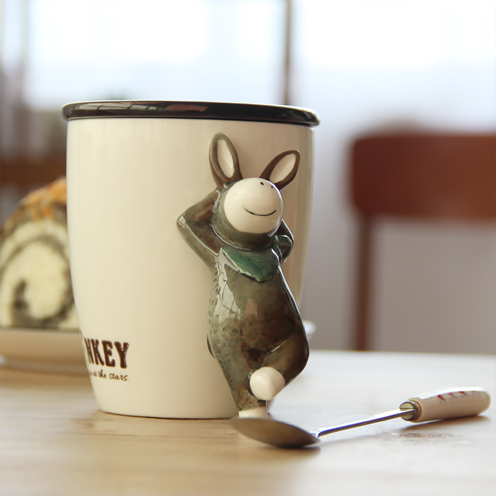 Sterling Ceramic Cup Animal Porcelain Coffee Mug Lid Gift Mugs Fromhome Garden Ceramic Cup Animal Porcelain Coffee Mug Lid Andhandle Water Cup furniture Porcelain Coffee Mug With Lid