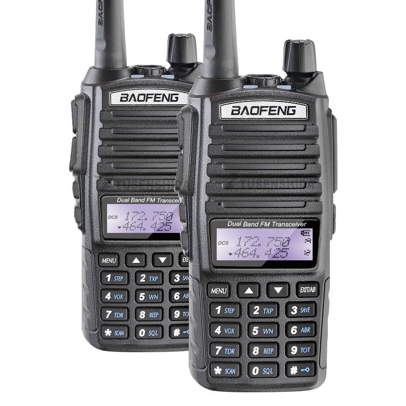 Livraison Gratuite 2 pcs Baofeng UV-82 Dual Band Talkie Walkie Amateur Radio Pofung uv 82 Jambon Radio Livraison Double PTT casque