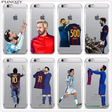 Sport Football Soccer Star Messi Soft silicon TPU Phone Case For iPhone X 8 8Plus 7 7Plus 6 6s Plus 5 5S SE Protective Cover(China)