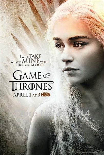 "R48 Game of Thrones Daenerys Targaryen HBO TV show 14""x21"" inch wall Poster with Tracking Number"