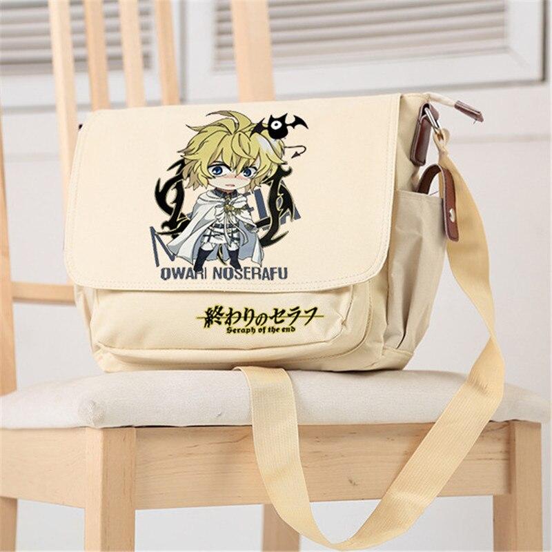 2017 Heißer Anime Seraph Der Ende Yuichiro Hyakuya Cosplay Leinwand Schule Taschen Anime Umhängetaschen Für Frauen Unisex Schulter Taschen