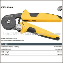 цена на VSC9 10-6A american mini-type self-adjustable crimping plier fasen tool Hand tools  Special AWG23-7 pipe clamp Tweezers Knife