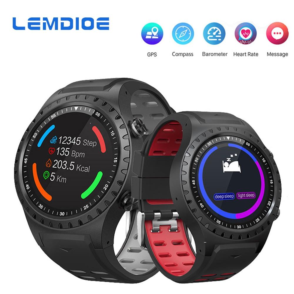 LEMDIOE GPS Smart Watch Men Support SIM Card IP67 Waterproof Professional Sport Activity Tracker Smartwatch For Android IOS цена