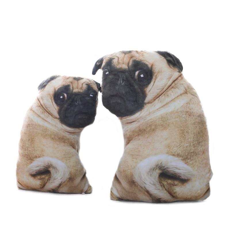 Simulation Dog Plush Pug Toys Soft Lifelike Stuffed Animals Shar Pei Pug Plush Pillow Dolls Sofa Cushion Kids Girls Gift