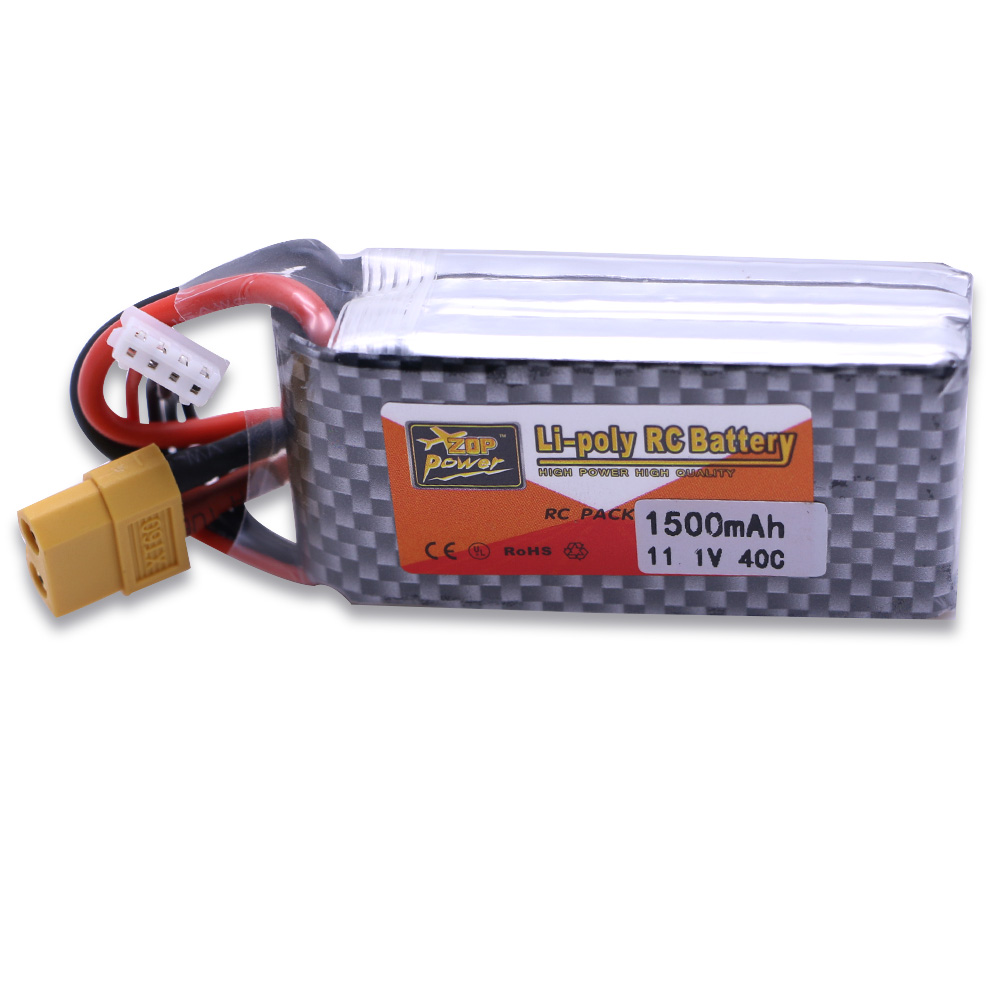 3pcs LiPo Battery 11.1V 1500Mah 3S 40C MAX 60C XT60/T Plug With 1in3 Cable charger Set For RC Car Airplane trucks buggy boats