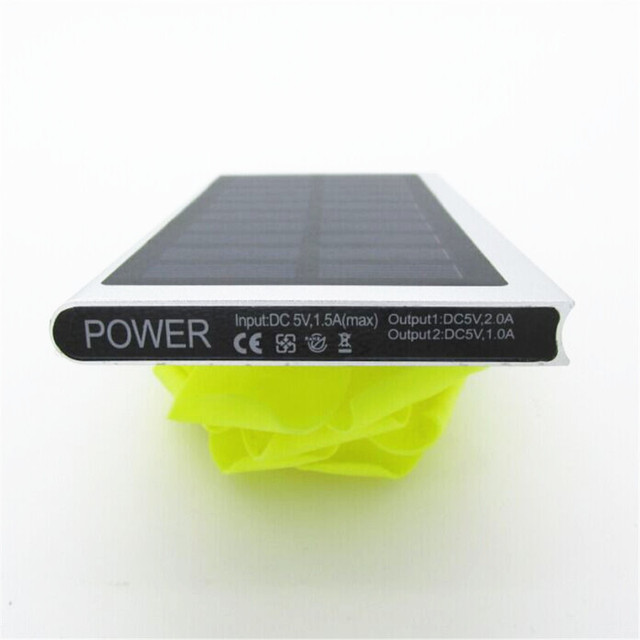 Ultra-thin Solar Power Bank 20000 mAh 4