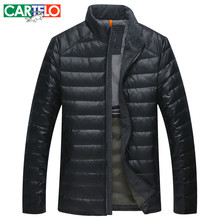 CARTELO/Marke männer 90% Ente Neue Winter Daunenjacke S-3XL Kragen Dünne dünne Kurze Mantel Männer Ultralight Down jacken